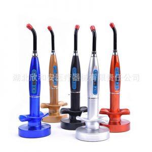 牙科光固化机_热卖5色口腔led光固化机莲花底座牙科光固化机欧标美标