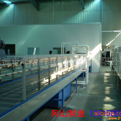 烘干生产线_浙江木纹水转印喷漆柜水洗机烘干生产线uv机uv光固化