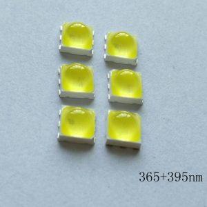 紫光灯珠_5050uvled紫光灯珠双波段光源0.5uv美甲led