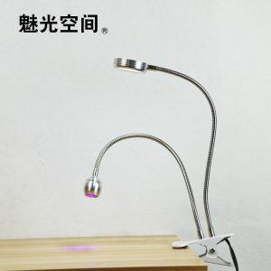 led紫外线双管灯_usb固化灯手机uv紫外线固化双头紫光灯