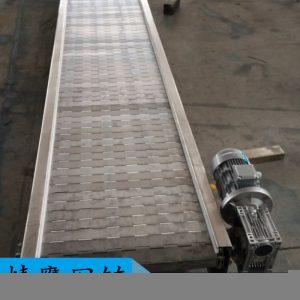 链板输送机_厂家不锈钢链板传送机高温烘干流水线隧道炉链板