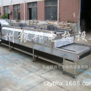 工业烤箱_银邦隧道式烘箱|五金件清洗烘干专用隧道炉|热风循环隧道式加热炉