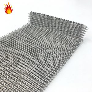 网带_304不锈钢折边加密网带非标定制高温热处理隧道炉人字形网带
