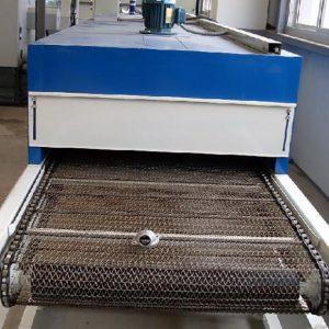 烘干固化设备_重庆厂家直销非标定制红外线隧道炉设备电循环铁氟龙不锈钢烤炉