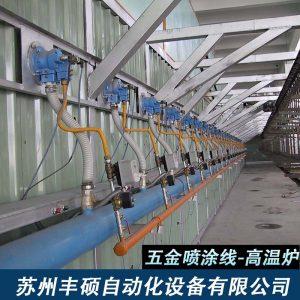 输送机_全自动五金喷涂线高温烤漆炉吊空线高温隧道炉涂装生产线五
