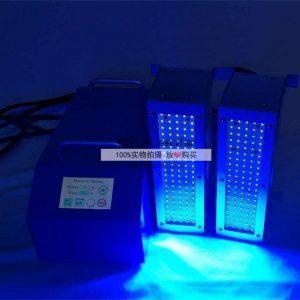 音响厂喇叭固化机50*200mm双工位UVLED固化机音响喇叭固化设备