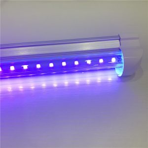 T8一体化LED紫光灯管395NM固化灯紫外线消毒诱蚊UV紫外灯管植物灯