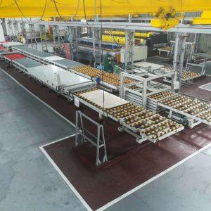 佛山石材自动补胶线单多层隧道炉流水线节能环保型烘干机
