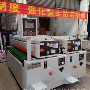 UV滚涂线3灯固化机干燥机覆膜机密度板粉末除尘机硝基漆辊涂机