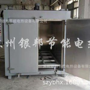 电热鼓风轨道式台车烘箱双开门台车式烘烤箱工业固化炉