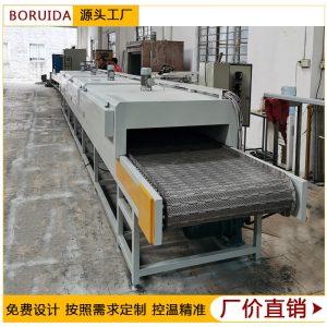 直供顺德烘干流水线链板输送线五金喷塑胶烘干线高温隧道炉